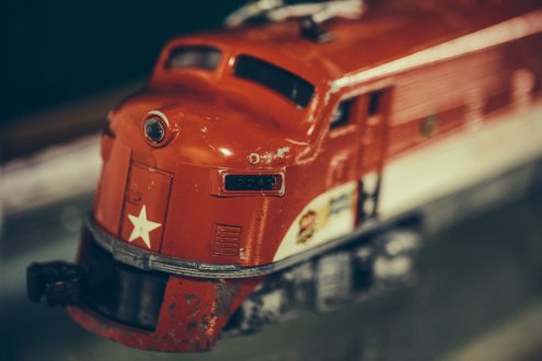 A Lionel toy train engine.