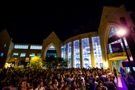 Roofs were raised, moves were busted during Headphone Disco on the John P. Monahan Plaza on Sept. 3.
