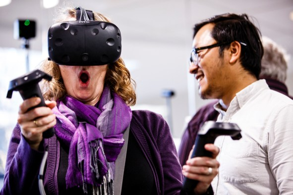 Virtual reality in the STELAR lab.