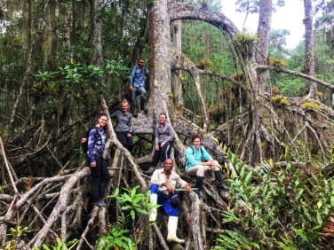 "Third place, Global Classroom: Sarah Craig, Ecuador. ""Los Manglares: Taking a break from trudging though the mangroves on the Ecuadorian coast. These mangroves are being destroyed at an alarming rate due to the ever-growing shrimp farming industry. Without the protection these mangroves offer, the coastal areas are much more susceptible to natural disasters - not to mention the habitat loss that occurs."""