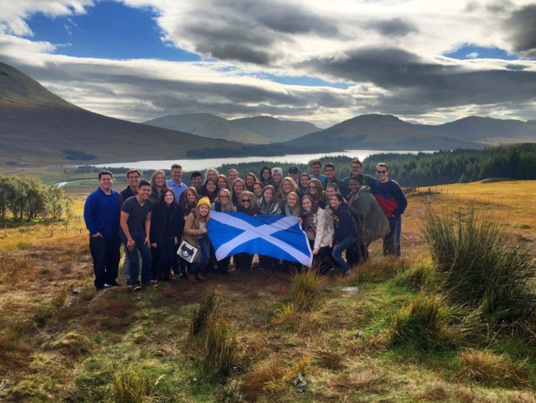 "Honorable mention, Tommies Abroad: Katelyn Drankoff, Scotland. ""Scottish Escape: This picture was taken on the London Business Semester group trip to Scotland. Escaping the hustle and bustle of London, our group retreated to the countrysides of Scotland and instantly fell in love with the natural beauty, culture and atmosphere. This is a place so utterly beautiful, pictures and words could never do the landscape justice; I guess you will just have to travel to Scotland to experience it for yourself."""