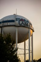The Storm Lake water tower.