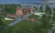 A rendering shows plans for how the renovation will become part of the upper quad on the St. Paul campus.