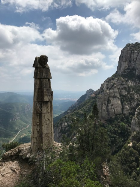 By Cullen Hilliker In the foothills of the Pyrenees Mountain range in Northern Spain there lies an old monastery that is home to Our Lady of Montserrat, a venerated icon of The Virgin that dates back to the 1000's. I spend the weekend in these mountains and hiked to this monastery. This photo was taken along the hike to the monastery.