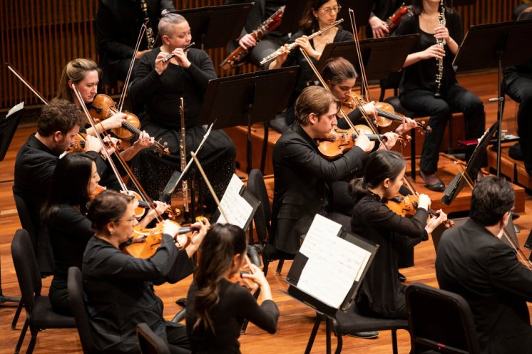 "The Saint Paul Chamber Orchestra performs ""Say Home,"" an original composition written by Lembit Beecher, SPCO's composer-in-residence, in collaboration with University of St. Thomas English faculty, Todd Lawrence and Chris Santiago, at the Ordway Concert Hall in downtown St. Paul on Feb. 24, 2019."