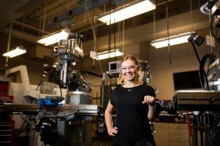 Sandra Hawley, a senior and mechanical engineering major. Liam James Doyle/University of St. Thomas