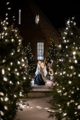 The nativity scene atop The Arches sits amongst the glow of holiday lights. Liam Doyle/University of St. Thomas