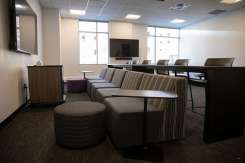 A game room in Tommie North Residence Hall.