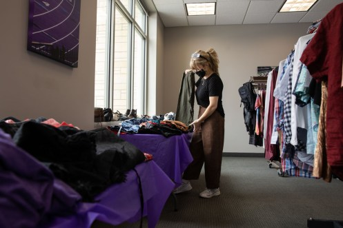 Co-Founder Morgan Ronsen at Tommie's Closet in the Anderson Student Center. Mark Brown/University of St. Thomas