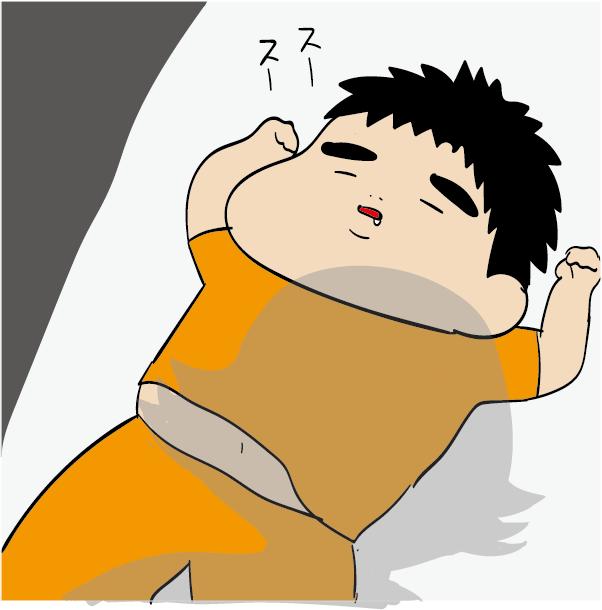 寝ている息子
