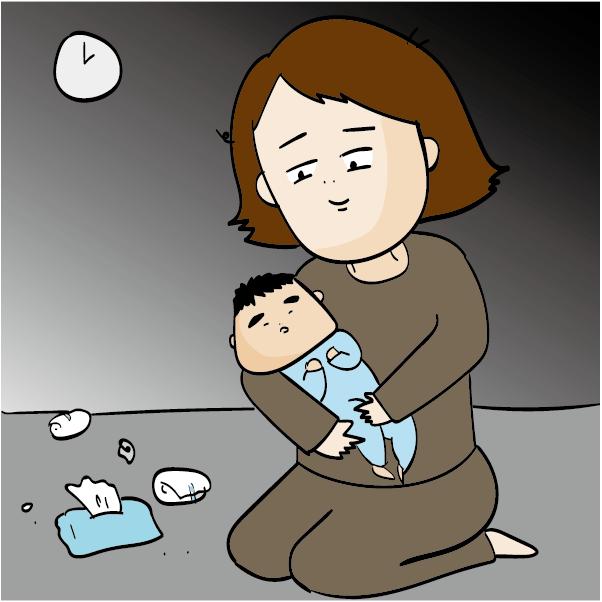 出産後は無気力でなくなり、赤ちゃんの寝かしつけなど大変