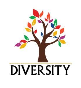 The logo for Diversity
