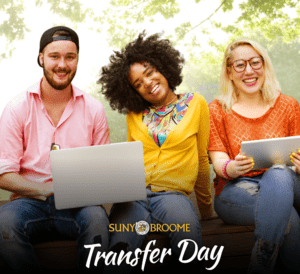 Images of young people with computers and the logo for Transfer Day