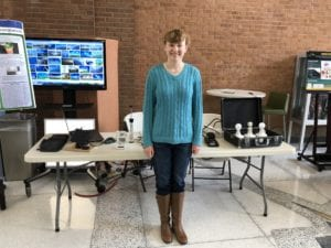 Engineering Science major Diana Kelly at the Clean Energy Open House.