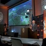 President Joe DiPietro at podium giving address