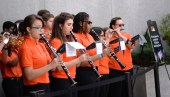 The UT Martin Marching Band performs at UT Day on the Hill