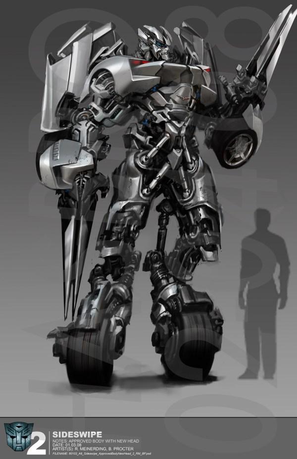 Revenge Of Fallen Sideswipe Concept Art - Transformers