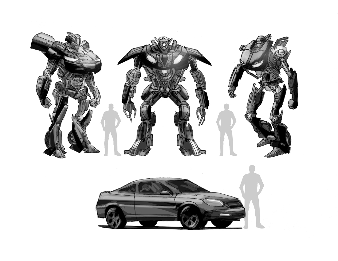 Transformers Video Game Concept Art