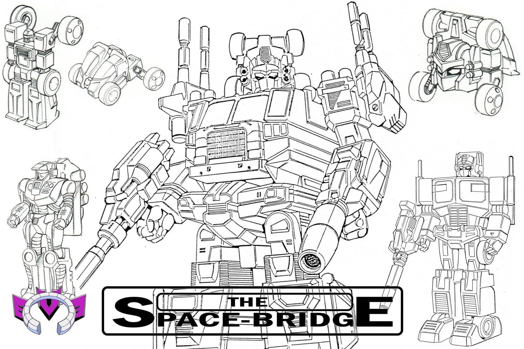 Powermaster Optimus Prime Original Design Sketch