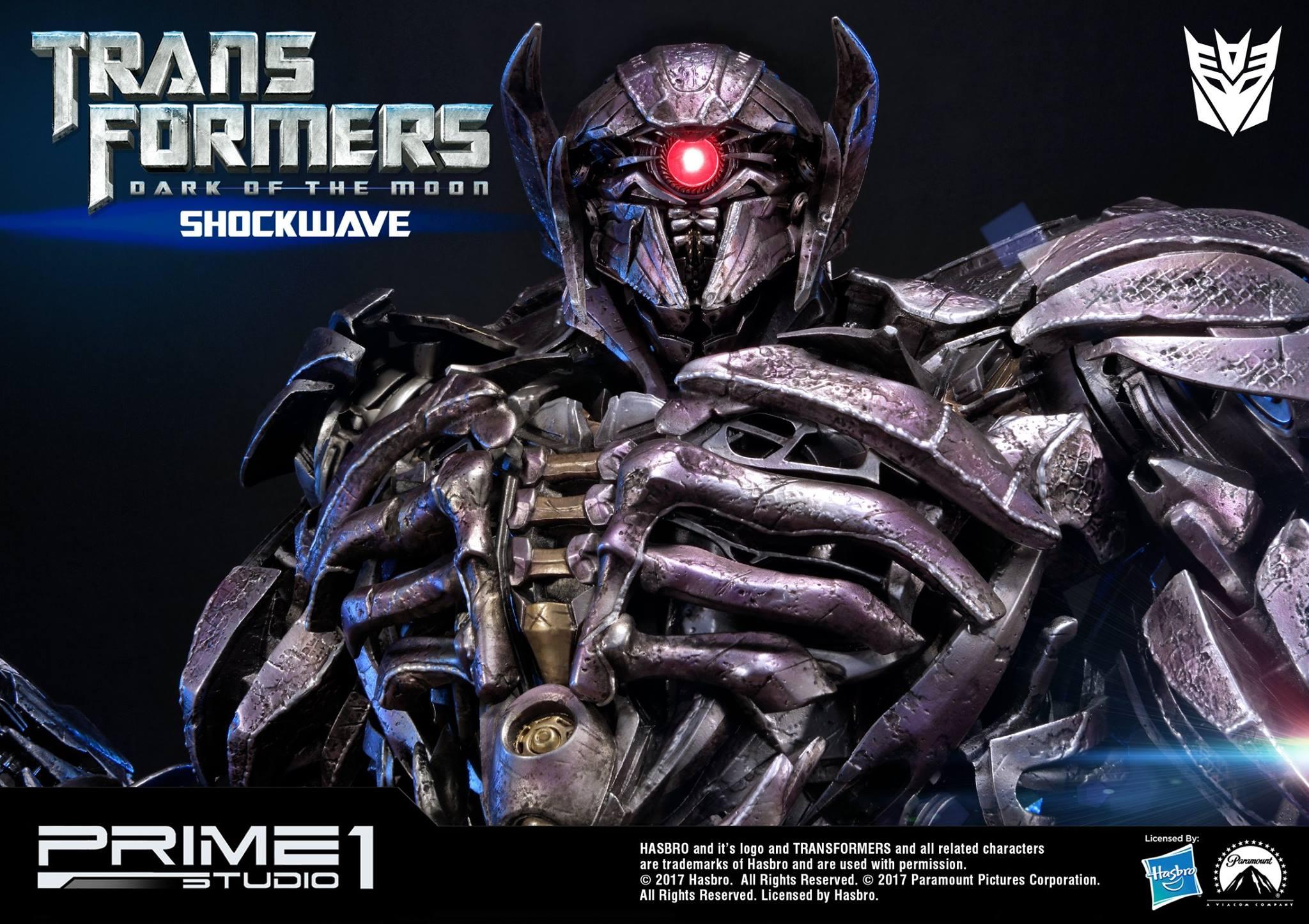 Prime1 Studio Dark of the Moon Shockwave Statue Details