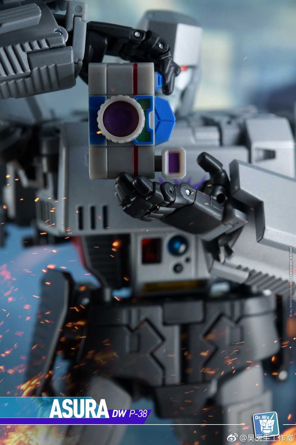 Dr. Wu Display Bases and Megatron Upgrade Kit - Color Images - Transformers News - TFW2005