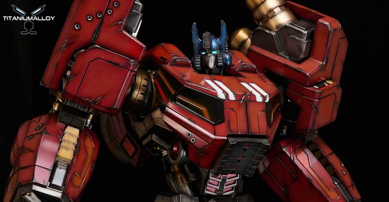 Cartoon Fall Wallpaper Titanium Alloy Fall Of Cybertron Optimus Prime Statue
