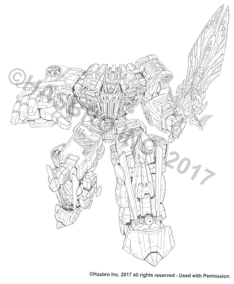 Combiner Wars Victorion Packaging Art Pencils By Marcelo