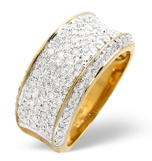 Meaning of Eternity Rings - A mens eternity ring in 9K yellow gold and pavé set diamonds