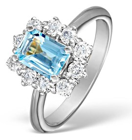 Aquamarine Birthstone Ring