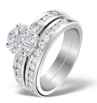 Bridal Set rings with matching engagement and wedding rings