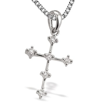 Diamond Cross Pendant Gold