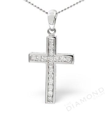Diamond Cross Pendant Gold