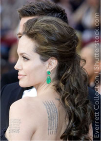 We love these earrings worn by Angelina Jolie - so stylish