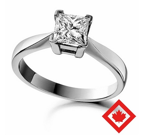 A Certified Canadian Diamond Engagement Ring