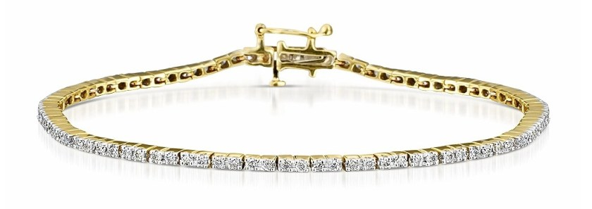 1CT Diamond Tennis Bracelet in 9K Yellow Gold Item I3501