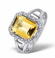 Iggy Azalea style engagement ring with yellow citrine