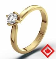 Jaqueline Jossa style Certified Canadian Diamond Engagement Ring