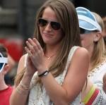 Maddy McKinley, John Isner's girlfriend, wearing a tennis bracelet
