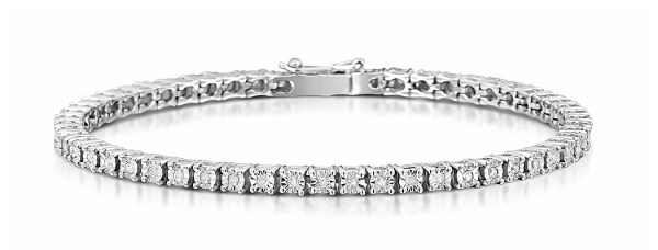 Silver Diamond Set 0.57CT Tennis Bracelet Item UD3226