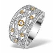 """Aspen"" Wide Diamond Ring"