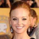 Jayma Mays wearing opal earrings
