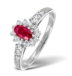 Ruby and diamond ring for 40th anniversary
