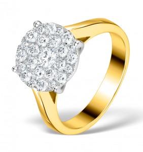 Galileo 1ct Diamonds in 18K Yellow Gold