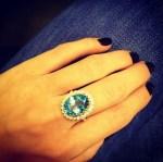 Blue topaz birthstone ring