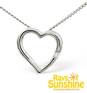 Harry Styles heart charity pendant necklace Rays of Sunshine TheDiamondStore.co.uk London