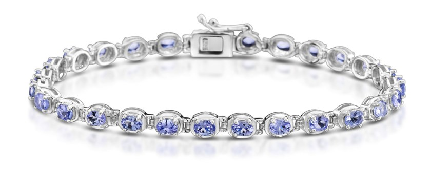 Tanzanite and Silver Bracelet