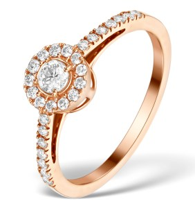 Rose Gold and diamond engagement ring from Martini Collection at TheDiamondStore.co.uk