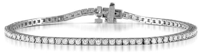 Meaning of Diamond Bangles - 2-carat diamond tennis bracelet