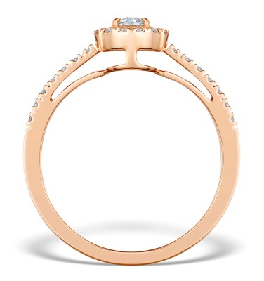 Rose gold martini diamond engagement ring at TheDiamondStore.co.uk