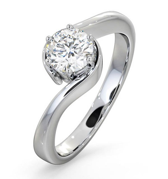 Jaqueline Jossa Engagement Ring - CERTIFIED 0.70CT LEAH PLATINUM ENGAGEMENT RING E/VS2
